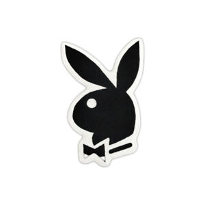 Custom Made Playboy Magazine Bunny Logo Hugh Hafner Floor Mat Carpet Rug Black
