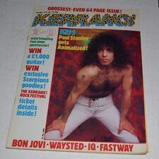 Kerrang!  Magazine oct 1984 KISS bon jovi venom