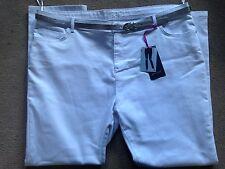 """Bnwt M&S Blanc Slim per una Jean silver belt taille 24 medium regular 30.5 """""""