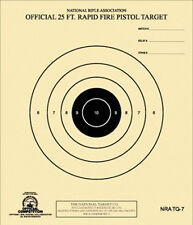 NRA TQ-7 Official 25 Foot Rapid Fire Pistol Target -- 100 on heavy paper
