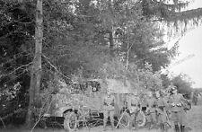 Negativ-Sudetenland-Österreich-Tschechien-Grenzgebiet-getarnter-LKW-1938-4