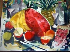 "Wayne Sessions Original Watercolor - ""Tropical Fruit"" - Beautiful Painting"