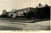 Vintage Postcard - Northport High School Long Island New York NY Unposted #2930