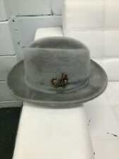 BILTMORE LONG HAIR 100% BEAVER FUR FELT FEDORA HAT GRAY COLOR 56 7