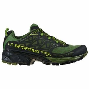La Sportiva Akyra Scarpa Mountain Trail Running Hiking verde olive neon