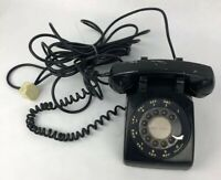 Vintage Black Bell System Western Electric Rotary Desk Phone With 4 Prong Cord