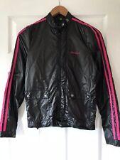 Brand New Womens Gio-Goi Black & Pink Retro Shell Windbreaker Jacket Size Small