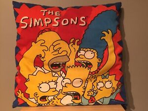 Vintage Rare The Simpsons Cushion Homer Bart Lisa Maggie Marge Sofa Bed Pillow