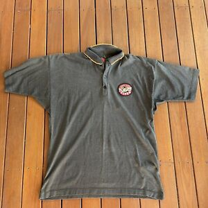 Vintage West End Grey Polo Australian Beer Advertisement Casual Man Cave