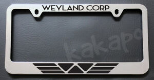 Weyland Corporation Alien Aliens Chrome License Plate Frame