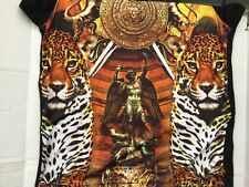 ENYCE Sean Combs Tigers & Statue print black t shirt sz XL