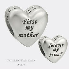 Authentic Pandora Sterling Silver Mother & Friend Bead 791518