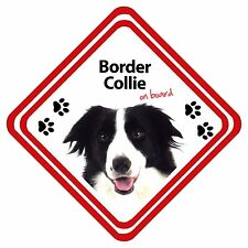 Border Collie On Board Personalised Car Sign Have It Your Way