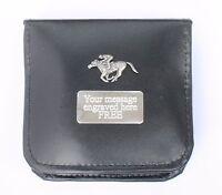 Horse Racing Shoe Polishing Set Brushes, Cloths With Personalised ENGRAVING Gift
