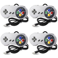 4Pcs Retro Super Nintendo SNES USB Controller Joypad for Windows PCMAC Gamepads