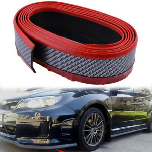 2.5M Car Front Bumper Lip Splitter Body Side Spoiler Protector Rubber Universal