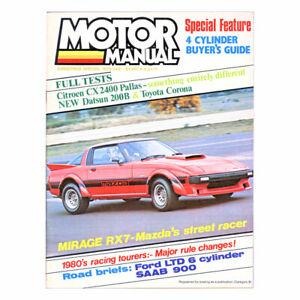 Motor Manual Christmas 1979 - Citroen CX 2400, Datsun 200B, Ford LTD 4.1