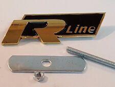 24ct vergoldet VW R Line Schwarz Front Abzeichen Grill 24K Gitter