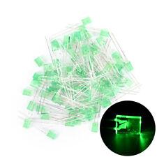 100pcs Rectangular Square LED Emitting Diodes Light Bulbs Yellow/Red/Blue/GreenL