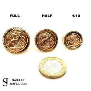 FULL HALF 1/10 SOVEREIGN RING 375 9ct 9K YELLOW GOLD St George Dragon Slayer
