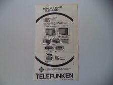 advertising Pubblicità 1964 TELEFUNKEN MIGNONETTE/KID II/MATCH/BAJAZZO/ CAMPING