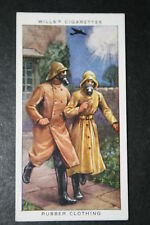 Chemical Warfare   British 1930's Rubber Clothing    Vintage Card # VGC