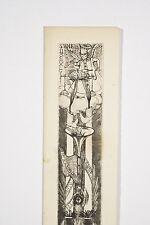 Gravure Jean Chaudeurge Menu Saint Dié 1947 Ange Musicien Cuisinier