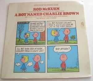 Neuf Rare Scellé Canne Mckuen A Boy Named Charlie Brown LP