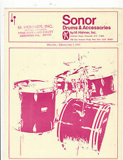 #MISC-0304 - JULY 1 1969 SONOR DRUMS MUSICAL INSTRUMENT catalog price list