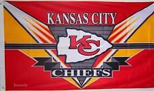 NEW 3ftx5ft KANSAS CITY CHIEFS EZ  NFL FOOTBALL BANNER HOUSE FLAG