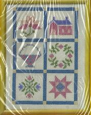 "Pastel Quilt Block Sampler Cross Stitch Kit The Creative Circle #1647 NEW 8""x16"""
