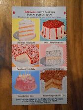 Old Vintage Betty Crocker White Cake Mix 6 Great Dessert Ideas Recipes Graphics