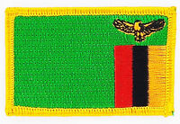 ZAMBIA ZAMBIAN FLAG PATCHES backpack  PATCH BADGE IRON ON NEW EMBROIDERED