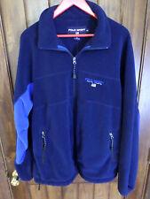 Ralph Lauren Polo Sport dark blue, full zip, fleece jacket. Men's XL