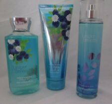 Bath & Body Works Juniper Breeze 3 Pc Set Gel Cream Fragrance Mist