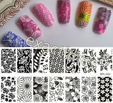 Nail Art Stamping Plate Flower Theme Image Stamp Template BP-L024 BORN PRETTY