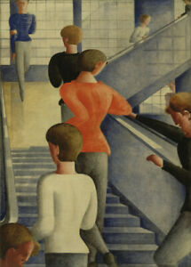Bauhaus Stairway, 1932, Germany, Oskar Schlemmer Vintage Bauhaus Poster