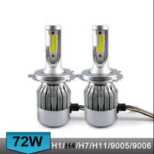 H4 9003 HB2 Hi/Lo Dual Bulb Car LED Headlight Lamps Kit 200W 20000LM 6000K 360°