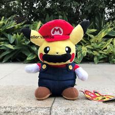 "Super Mario Pikachu Plush Toy Pokemon Go Pocket Monsters Stuffed Animal Doll 8"""