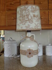 Folk Art/By the Artist Table/Desk Lamp (Very Pretty Country/Pastoral Shade)