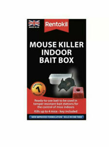Rentokil Mouse Killer Indoor Bait Box PSM81 Fast Free Post