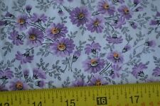 "By 1/2 Yd, 35"" Wide Vintage 1940's-60's, Lavender Calico on White Cotton, N1387"
