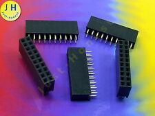 Stk.5x BUCHSENLEISTE / HEADER 2 x 10 polig / pins 2.54mm Zweireihig #A1492