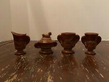 Boyd Glass Chocolate Slag Children's Lamb Set 4 Pieces