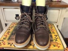 Timberland ~ Brown Leather  Sensorflex Lace Up Sneaker Boots Size US 10