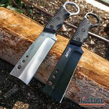 """MTECH 8"""" SHAVER STYLE FIXED BLADE CLEAVER KNIFE OUTDOOR CAMPING MILITARY ARMY"""