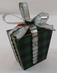 Ashland Christmas Holiday Ornament Green Tin Metal Gift New