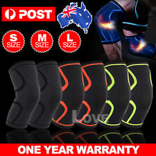 Knee Support Brace Compression Sleeve Arthritis Pain Relief Running Gym Sports