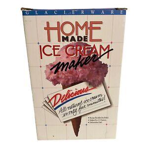 VIntage Pink Peach Individual Single Ice Cream Maker Mug Glacierware 12 Oz