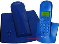 Swisscom TOP D300 Schnurloses ISDN DECT Telefon DUO / 2er Set /T-Easy C 520 BLAU